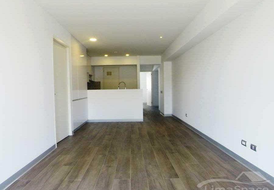 Moderno departamento sin muebles de 2 dormitorios a estrenar en Barranco límite con Miraflores