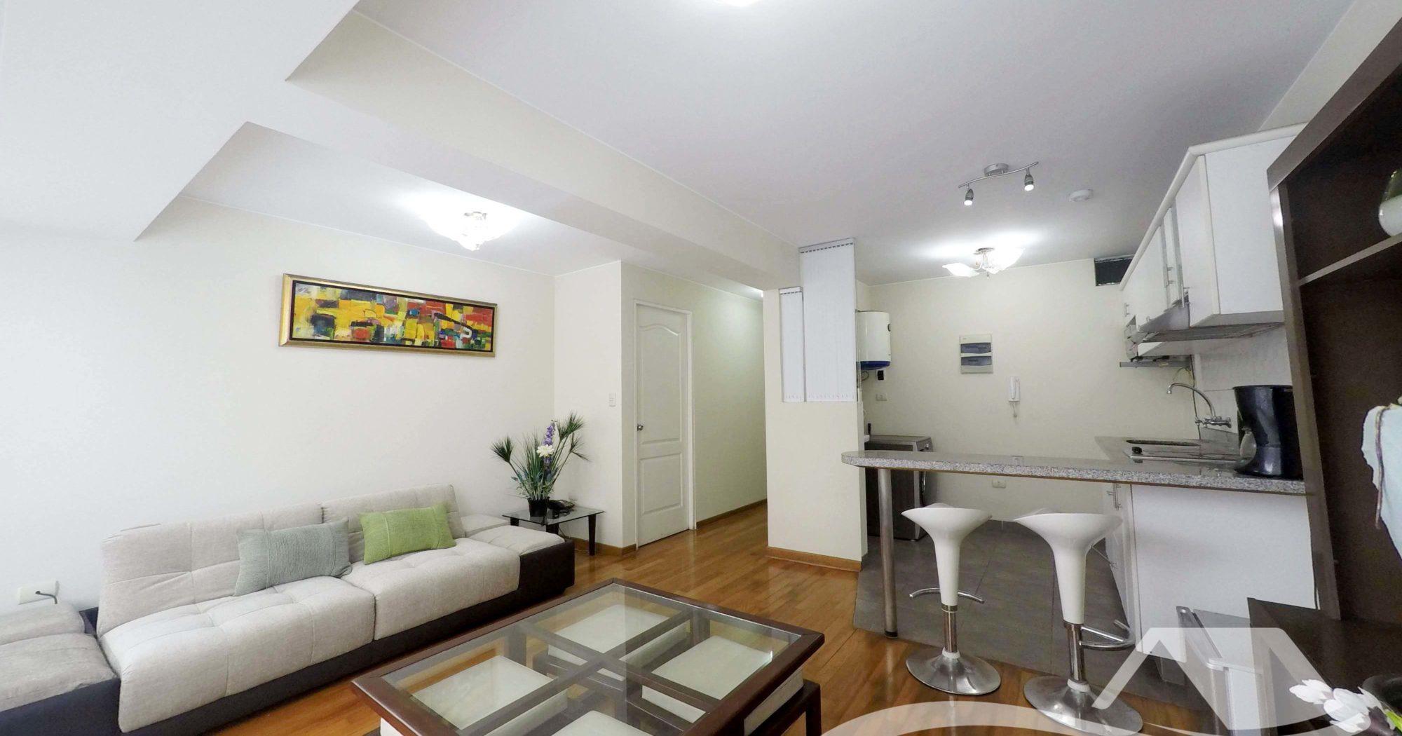 Departamento Amoblado y Equipado de 1 Dormitorio en Miraflores – MIR166
