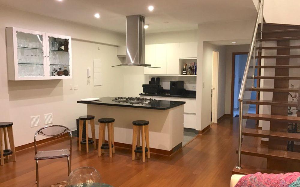 Alquiler Miraflores Duplex Moderno Y Amoblado, 1 Dormitorio, Bien Ubicado