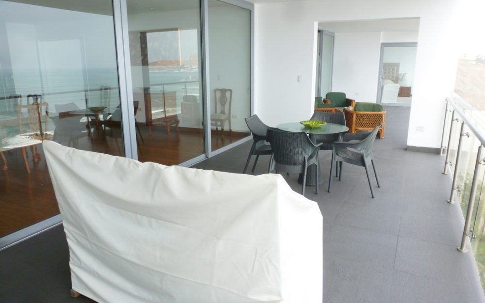 Lujoso Barranco Dpto. Amoblado Frente Al Mar, 4 Dormitorios, Terraza