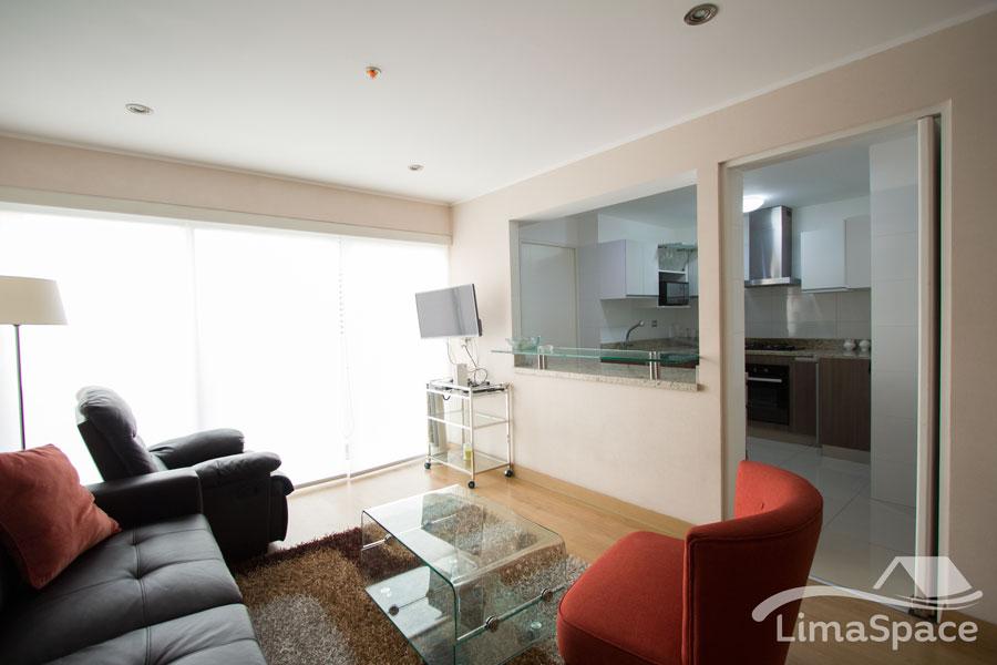 Hermoso departamento de dos habitaciones en moderno edificio con áreas comunes
