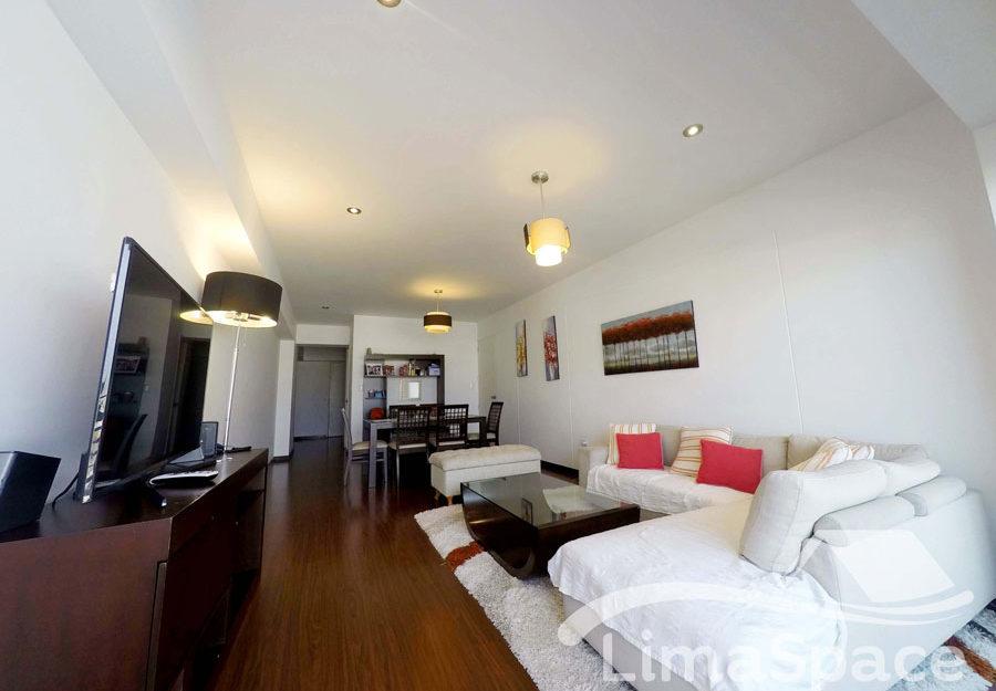Lindo departamento de 3 dormitorios amoblado, cerca a Larcomar – MIR202