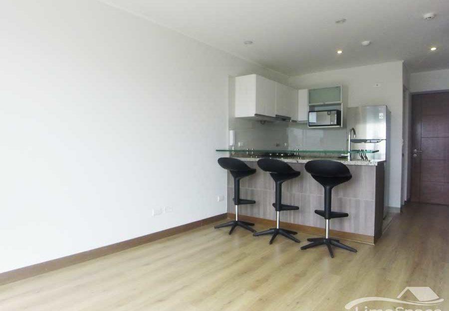 Lindo departamento con áreas comunes de un dormitorios en Barranco limite con Miraflores
